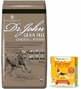 Dr John Grain Free Chicken & Potato 2 kg + opakowanie Naturediet 390 g GRATIS