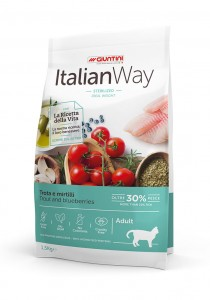 Italian Way Cat Sterilized Trout and Blueberries Ideal Weight 1.5 kg