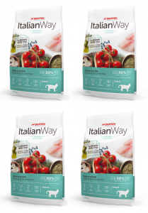 Italian Way Cat Sterilized Trout and Blueberries Ideal Weight 6 kg (4 x 1.5 kg)
