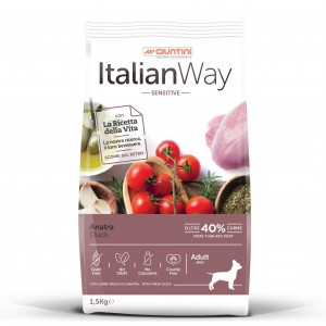 Italian Way Mini Adult Dog Duck Sensitive 1.5 kg