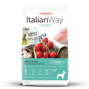 Italian Way Mini Adult Dog Trout and Blueberries Ideal Weight 1.5 kg