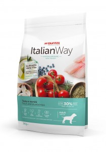 Italian Way Medium Large Adult Dog Trout and Blueberries Ideal Weight 3 kg