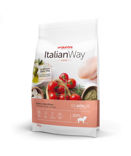 Italian Way Junior Medium Maxi Kurczak i Indyk 3 kg.png
